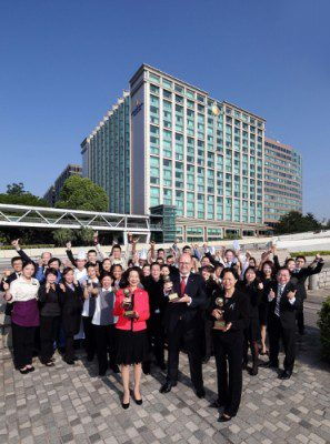 InterContinental Grand Stanford Hong Kong won three coveted 2016 World Travel Awards: World's Leading Luxury Business Hotel, Asia's Leading Business Hotel and Hong Kong's Leading Business Hotel (PRNewsFoto/InterContinental Grand Stanford)