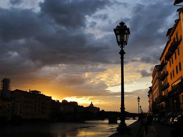 Pôr do Sol de Florença, na Toscana (Foto: Nina Volare)