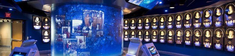 Hall da Fama: astronautas selecionadas integram atração do complexo (crédito: divulgação)