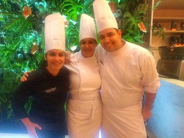Chef Larissa Mazzoli e sua equipe